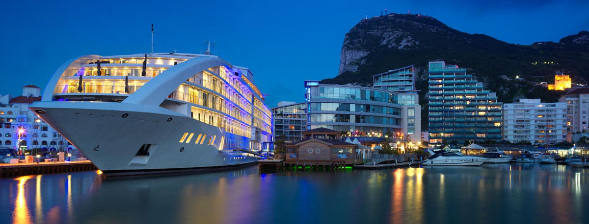 Gibraltar Nightlife Ocean Village and Sunborn Hotel